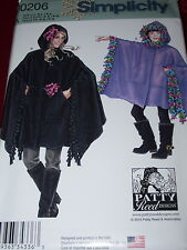 SIMPLICITY #JO206-MOTHER & DAUGHTER ( GREAT FOR FLEECE ) PONCHO PATTERN  SM-LGuc