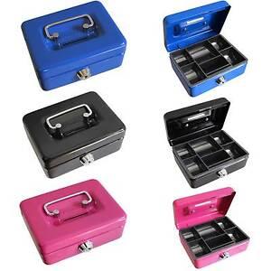 4inch Small Key Lock Petty Cash / Piggy Bank Money Box / Pot Safe Coin Slot Kids