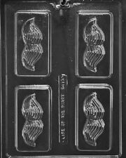 D113 Mustache Soap Bar Chocolate Candy Mold w/instructions