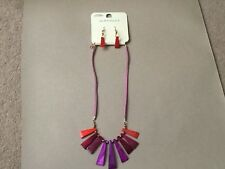 Emporium Matching Necklace & Ear Rings Set - Trendy Fashion Item - New on Board