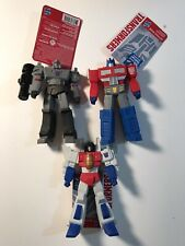 Lot of Walmart exclusive Transformers optimus prime megatron starscream vinyl