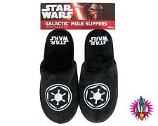 NEW OFFICIAL STAR WARS SITH GALACTIC EMPIRE MENS MULE SLIPPERS SIZE 8-10