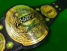 GFW GLOBAL FORCE WRESTLING CHAMPIONSHIP REPLICA BELT IN THICK BRASS PLATES!!