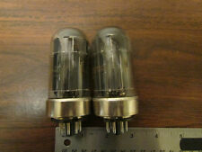 Pair HP 6080 Vacuum Tubes Marked Hewlett-Packard Metal Base Vintage