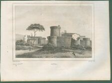 OSTIA (Roma). Veduta panoramica.  Da Italie Pittoresque, anno 1836