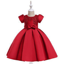 Children Girl Kids Toddler Floral Pageant Wedding Party Dress Bownot Skirt 05095