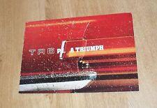 Triumph TR6 PI Brochure 1974