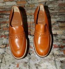 Vtg 70s Cinnamon Brown Loafer Slip On Casual - Dress Men's New Old Nos Shoes 7 M