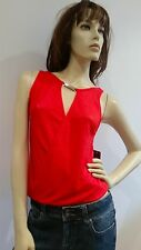 BLOCKOUT Red Knit Top Ladies Size S NWT NEW