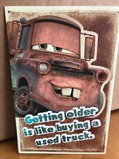Disney Cars Mater Adult Birthday Card American Greetings car automobile racecar