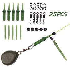 25Pcs Carp Fishing Accessories Set with Quick Change Swivels Anti Tangle Sleeve