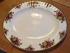 "Royal Albert Old Country Roses 13 1/2""  PLATTER 1962 ENGLAND"