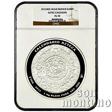 NGC PL70 - 2012 Mexico AZTEC Calendar Silver KILO Coin Banco de Mexico Libertad
