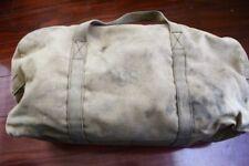 "vtg Us Military Condor Tan/Coyote duffle 18"" Canvas bag - distressed"