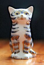 ROYAL CROWN DERBY PAPERWEIGHT - THE GREY KITTEN - LTD EDN - 1ST QUALITY