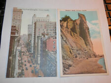 TORONTO CANADA - 2 EARLY POSTCARDS - KING STREET EAST - SCARBORO BLUFFS