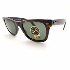 Ray Ban Wayfarer 2140 1185 Havana Aged Effect Green G15 New Authentic rl