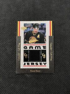 1996-97 UPPER DECK PAVEL BURE RARE AUTHENTIC GAME-WORN GAME JERSEY #GJ-10
