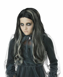 California Costumes Bloody Mary Girl Wig Children Wig, Black NEW