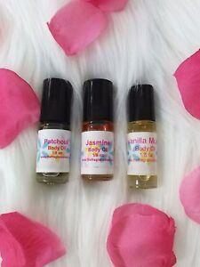 Jasmine Vanilla Perfume Body Oil Fragrance Oil 1/8 Oz Roll On One Bottle Dram