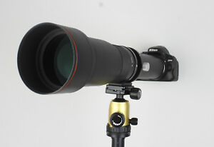 Kelda 650-1300mm F8.0-16 Telephoto Zoom Lens Black + T-Mount for Canon Nikon etc