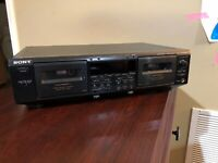 Sony TC-WE605S Vintage Dual Cassette Deck For Parts Or Repair (Powers On)