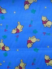 WINNIE THE POOH, PRINT CUTE KIDS, blue cotton mix fabric/PER METRE/