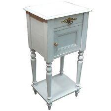 table de chevet ou d'appoint de style 1900 peinte en gris