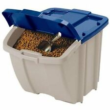 Stackable Front Access Pet Food Storage Bin Dog Food Container Holds 50 lbs-72qt