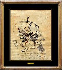 JAMALI Original Painting Authentic Pigmentation on Cork Portrait Profile Signed