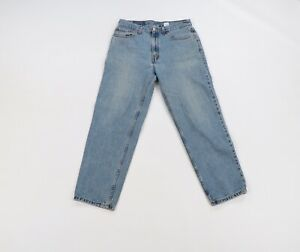 Vintage 90s Levis 550 Relaxed Fit Tapered Leg Distressed Denim Jeans Mens 33x30