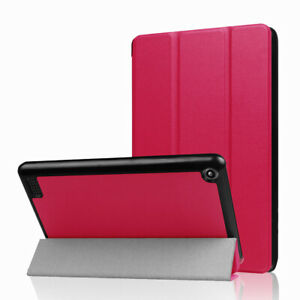 Smart Magnetic Tri-fold Leather Flip Case For Amazon Kindle Fire 7 / HD 10/ HD 8