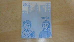 NOKIA INSTRUCTION BOOKLET NOKIA 111 + 113 #369