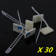 30 Pcs 3M Self-Adhesive Adjustable Clips Fastens Fixed Organizer for Car Auto