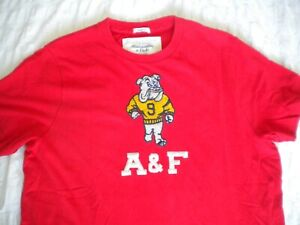 Abercrombie and Fitch Mens Red XXL T shirt Top Excellent Condition