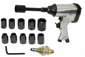 "17PCS PRO 1/2"" AIR IMPACT WRENCH GUN GARAGE TOOL KIT & SOCKETS"