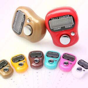5 Digit Digital LCD Electronic Golf Finger Hand Ring Knitting Row Tally Counter