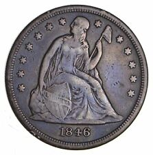 1846-O Seated Liberty Silver Dollar - Circulated *1220