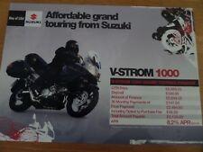 Suzuki V-Strom 1000 Motorcycle Sales Brochure 2007