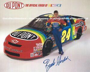 BROOKE SEALEY GORDON AUTOGRAPHED JEFF 1995 DUPONT RACING NASCAR PHOTO POSTCARD