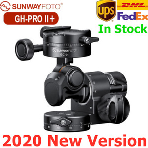 2020 SunwayFoto GH-PRO II+ Geared Head Panoramic Tripod Head For Cameras DSLR