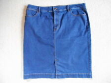 Womens Jean Skirt-TALBOTS- blue stretch denim-18