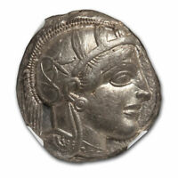 Attica,Athens AR Tetradrachm Owl (440-404 BC) Ch XF NGC (Brushed) - SKU#228086