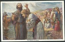 Postal antigua San Juan Bautista y Jesus andachtsbild santino holy card santini