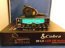 BRAND NEW COBRA 29 LX 29LX CB PRO TUNED,MOFSET,SWING KIT & RK56 MIC