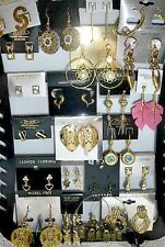 gemischter Posten 6 Paar Ohrringe, EDEL!, Strass,  Modeschmuck, gold, NEU + TOP
