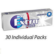 WRIGLEYS EXTRA WHITE 10 PIECES 14g CHEWING GUM x 30 PACKETS 114489 WHOLESALE