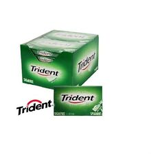 12 Packs x TRIDENT SPEARMINT Soft Chewing Gum Packet Packs Sugar Free FULL BOX