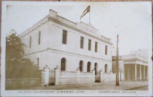 Camaguey, Cuba 1920 AZO Realphoto Postcard: Colegio Champagnat College- Camagüey