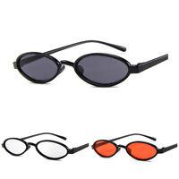 Männer Frauen Vintage Sonnenbrille Retro Kleine Ovale Metallrahmen Brillengläser